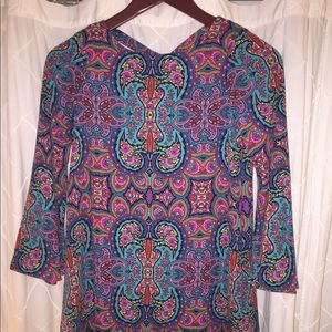 Paisley Blu dress with woven back